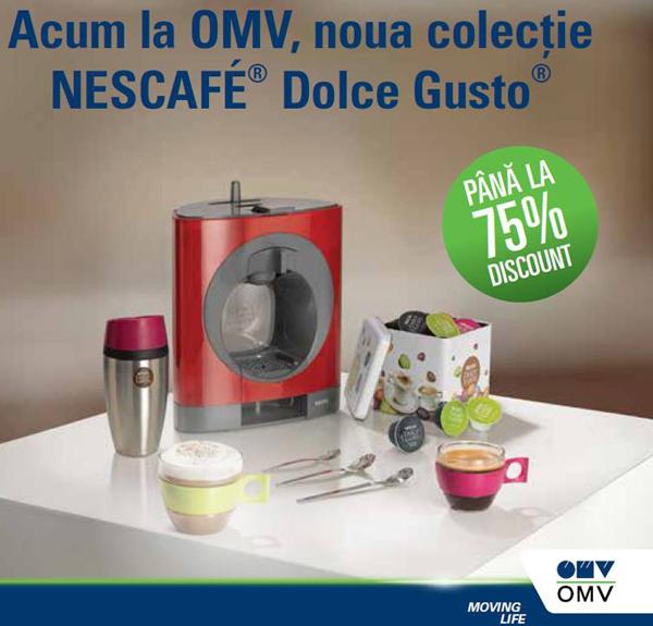 Promotie OMV cu puncte bonus pentru produse si accesorii NESCAFE Dolce Gusto