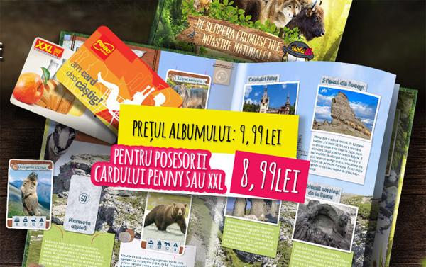 Album pentru cartonasele Penny Market DESCOPERA ROMANIA
