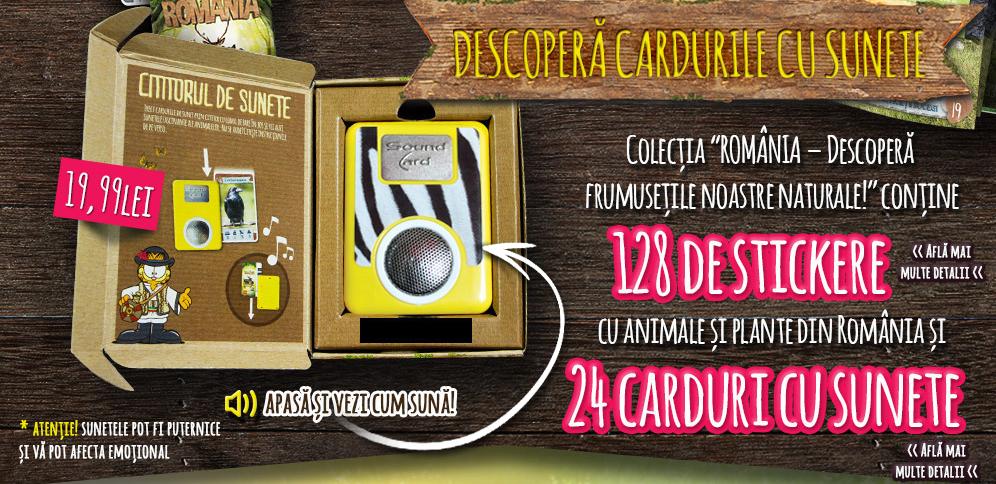 Cititor de carduri cu sunete din campania Penny Market DESCOPERA ROMANIA