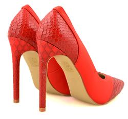 Superpantofi - Pantofi din piele rosie Red Corba