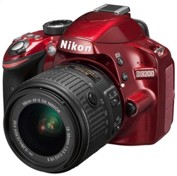 APARAT FOTO NIKON D3200 24.2 MP KIT 18-55MM VR II RED