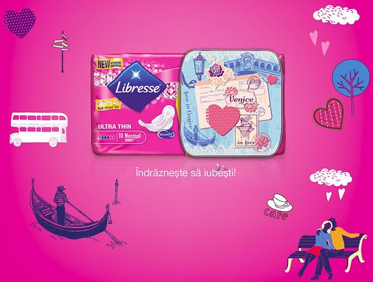 Cutiuta VENICE din colectia de 5 cutiute pentru absorbante Libresse: Journey of Love [2015]