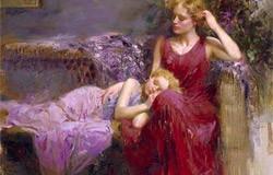 Ani pentru mama (tablou: Pino – Mother's Love)