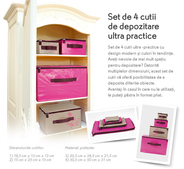Set de 4 cutii de depozitare ultra-practice de la Yves Rocher, Mai 2015