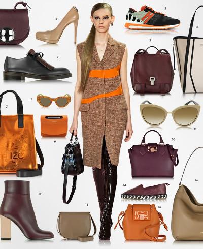 Genti, pantofi si accesorii in combinatii pentru toamna