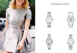Stuning Silver - ceasuri argintii de dama