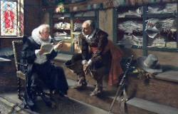 Un notar la munca (tablou de artistul german Max Volkhart)