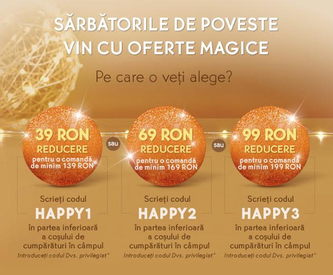Oferte magice la Yves Rocher, reduceri HAPPY : 39 lei, 69 lei sau 99 lei!