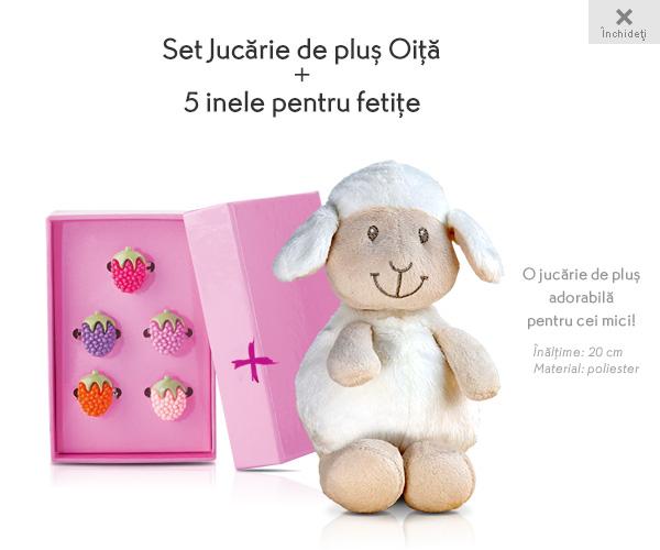 Cadou copii: Oita de plus si set de 5 inele colorate - 20 lei de la Yves Rocher, Februarie 2016