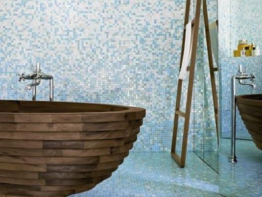 Mozaic pentru baie de la Dalet