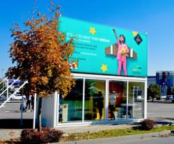 Centrul de donatii in parcarea Baneasa Shopping City