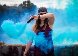 Bomba fumigena pentru sesiuni foto