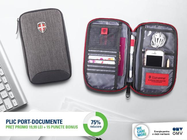 Geanta plic pentru documente - promotie OMV cu puncte bonus 2018