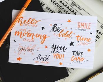 Bucuria scrisului de mana