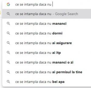 google search - CE SE ÎNTâMPLă DACă NU