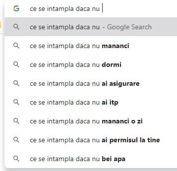 google search - CE SE INTAMPLA DACA NU