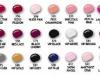 Nuantele lacului de unghii Margaret Astor Lacque DeLuxe Rich Color and Shine, dintre care 14 sunt disponibile cu Marie Claire editia de Martie 2011