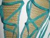 Sandale din rafie cu legaturi colorate, cadoul Beau Monde din 2010