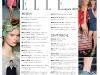 Cuprinsul editiei de August a revistei ELLE Romania ~~ Pagina 1
