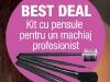 Setul de pensule pentru machiaj, cadoul revistei UNICA, editia Februarie 2013 ~~ Pret revista+cadou: 14,99 lei