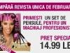 Promo pentru revista UNICA ~~ Cadou: set de pensule pentru machiaj ~~ Februarie 2013 ~~ Pret pachet: 14,99 lei