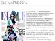 Promo pentru revista ELLE Romania, editia Martie 2014