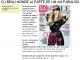 Promo pentru editia de Ianuarie 2015 a revistei Beau Monde Style
