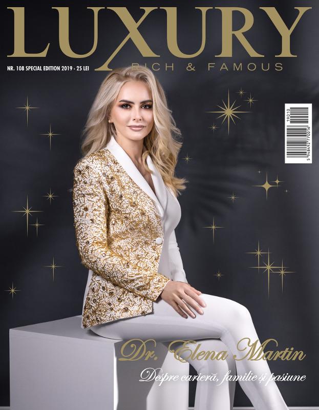 Luxury Magazine Romania ~~ Coperta: Elena Martin ~~ Nr. 108 Iarna 2019