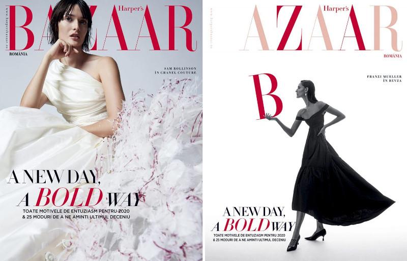 Harpers Bazaar Magazine Romania ~~ A New Day, A Bold Way ~~ Ianuarie-Februarie 2020