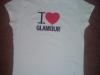 Tricou alb I LOVE GLAMOUR cadou la revista Glamour :: August 2009