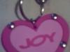Joy :: Breloc in forma de inimioara cu logo-ul Joy :: Mai 2009
