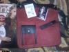 Geanta de zi din catifea rosie, cadou la InStyle ~~ Decembrie 2009