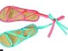 Sandale  de vara din rafie cu panglici colorate ~~ cadou la Beau Monde Style ~~ Iulie - August 2010