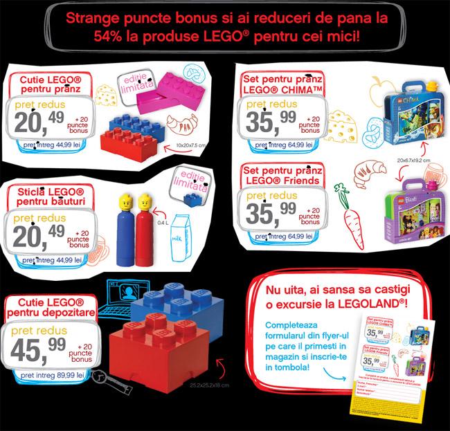 Mega Image Campanie puncte bonus pentru produse LEGO pentru copii, vara 2014