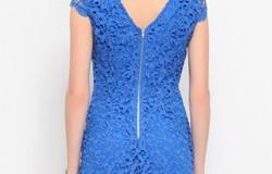 Rochie eleganta brodata albastra