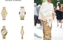 Golden Glamour - ceasuri aurii de dama