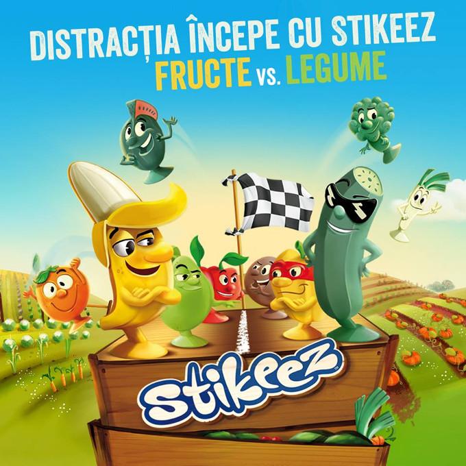 Colectie noua Stikeez: fructe si legume